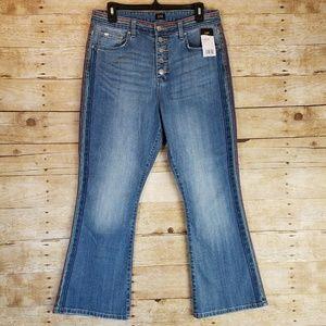 NWT Lee Vintage Modern Flare Rainbow Jeans 32x26